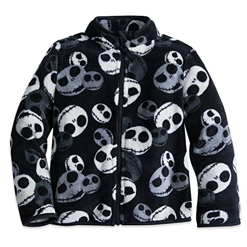 Disney Jack Skellington Fleece Jacket for Boys Size 7/8 Black