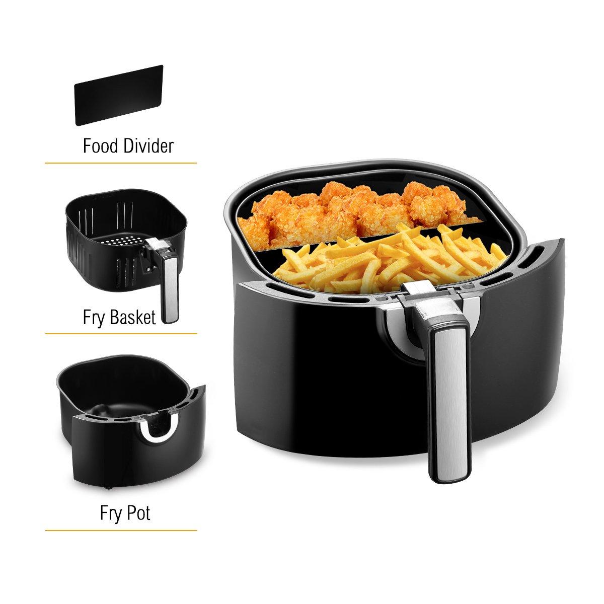 Amazon.com: Maxkon 5,8 Qt Air Fryer 8 en 1 XL con 6 piezas ...