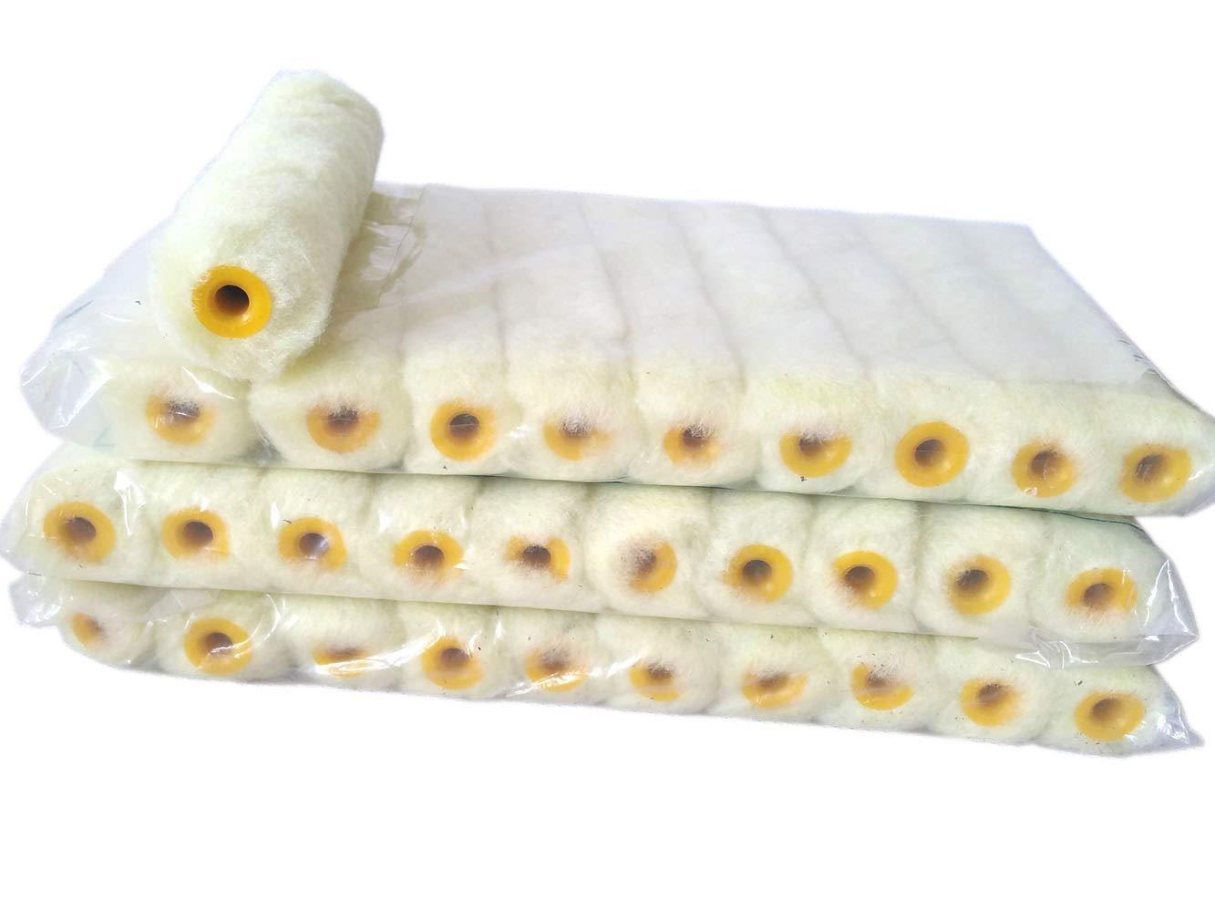Rong 30 Roller Covers 6 inch Mini Cover Refill White Stripe Soft Woven 2/5 RH Ltd