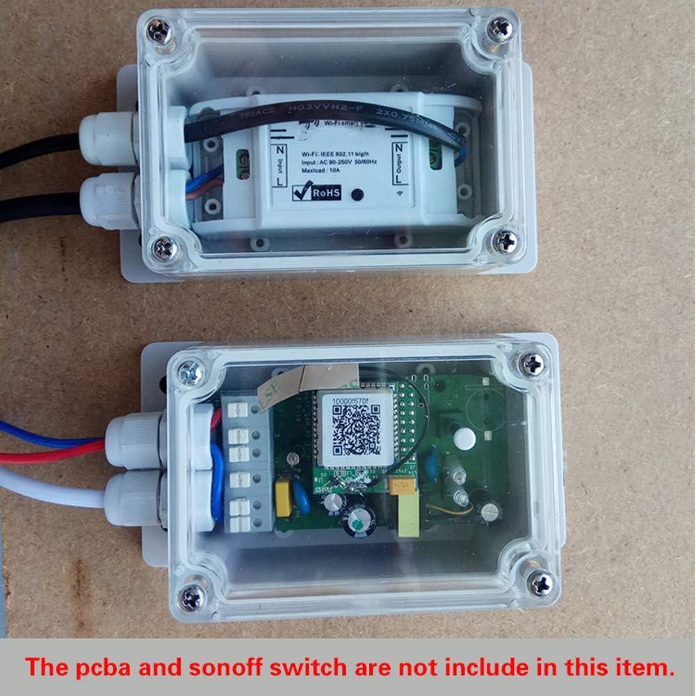 IP66 caja de proyectos de derivaci/ón impermeable para exteriores para Sonoff Basic//RF//Dual//Pow para luces de /árbol de Navidad LEEBA caja de derivaci/ón electr/ónica impermeable