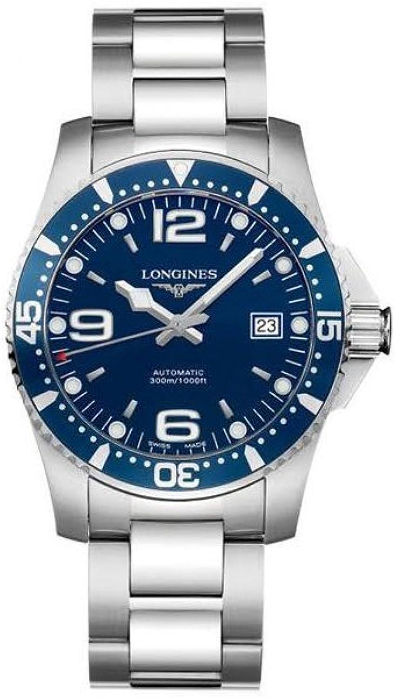 Longines HydroConquest L36414966 - Reloj automático de Acero Inoxidable con Esfera Azul