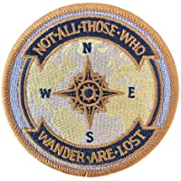 O'Houlihans - Not All Those Who Wander are Lost Embroidery Patch (Hook)