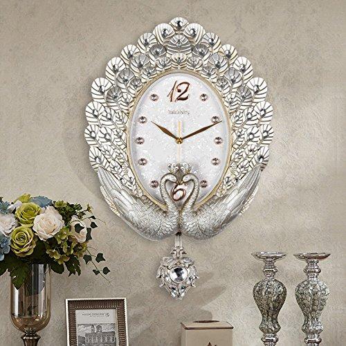 - Imoerjia European-Style Peacock Mute Wall Clock 20
