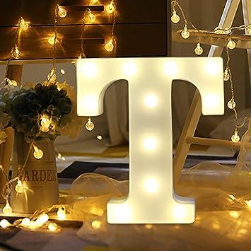 Amazon.com: Letrero con luces LED de 26 letras del alfabeto ...