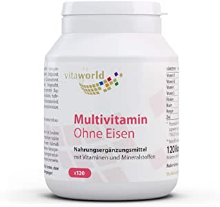 Vita World Multiplex Multivitamínico A-Z sin hierro 120 Cápsulas Vegetales Made in Germany: Amazon.es: Salud y cuidado personal