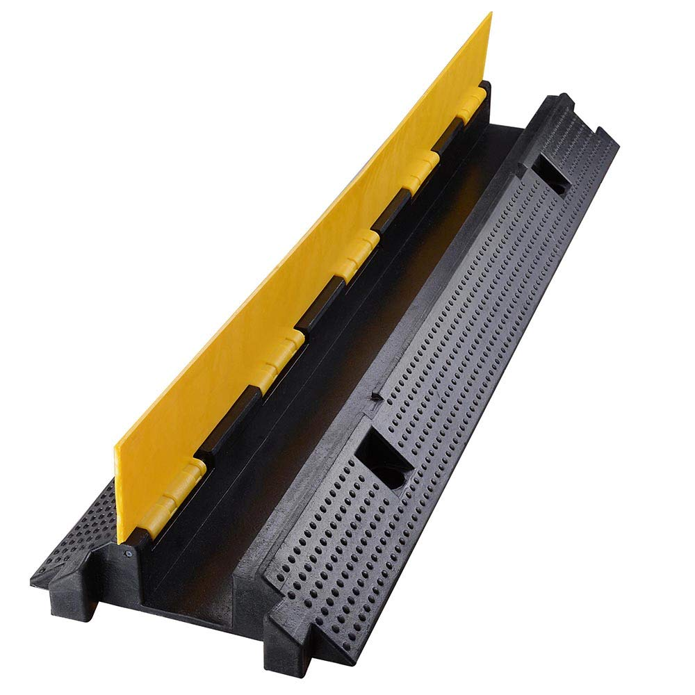 Yescom Medium Rubber Electrical Wire Cover Ramp Guard Warehouse Cord Cable Ramp