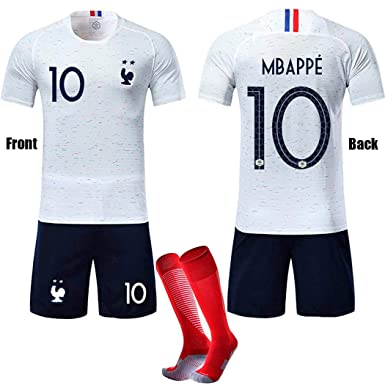 adba9c83f8f BOASIA French Football Jersey 2018 MBAPPE  10 Children s Soccer Jersey 2  Star T-Shirt