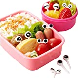Welcomeuni Bento Decoration Sets, Lovely Eye Easy to Sign Mini Cartoon Children Food Picks and Forks
