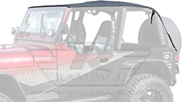 Rampage 109435 Frameless Soft Top Kit With Door Skins And Surrounds 1992 1995 Wrangler Yj Black Diamond With Tinted Windows Window Tinting Kits Amazon Canada