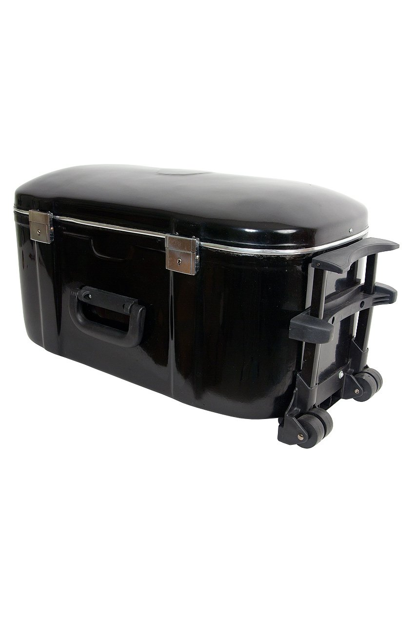 banjira Wheeled Fiberglass Case for Tabla Set - Black TBHCW