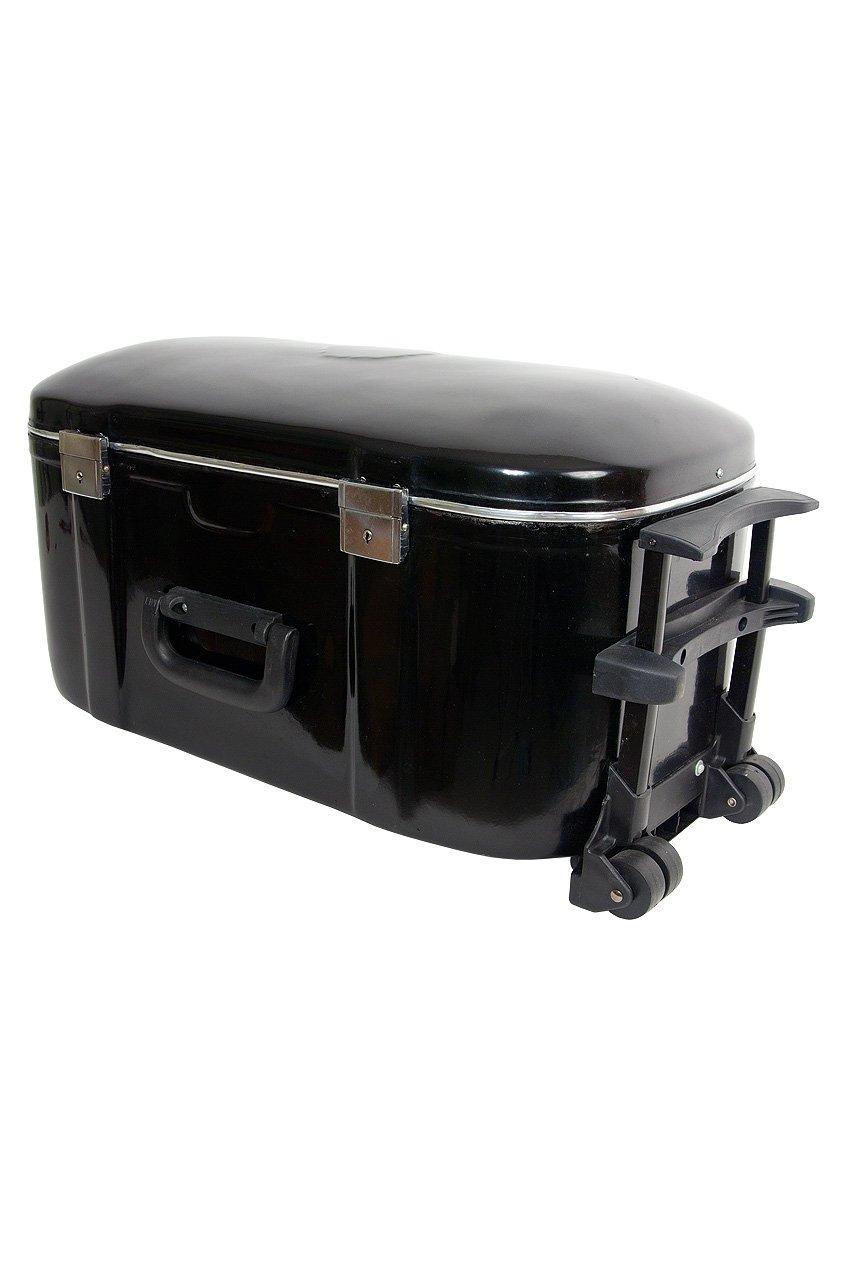 banjira Wheeled Fiberglass Case for Tabla Set - Black by banjira