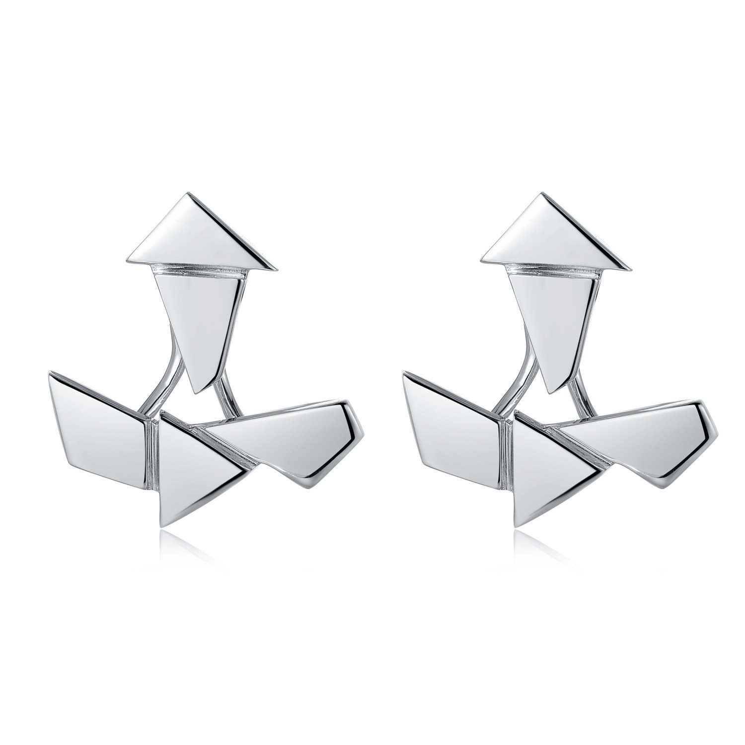 MBLife 925 Sterling Silver Geometric Set Earring Jackets Set