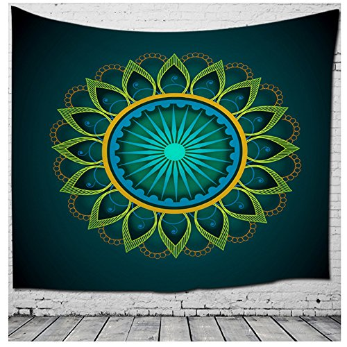 WSHINE Mandala Tapestry Floral Hippie Wall Hanging, Bohemian Bedspread Home Decortion Beach Throw Blanket (Snowman Wall Tapestry)