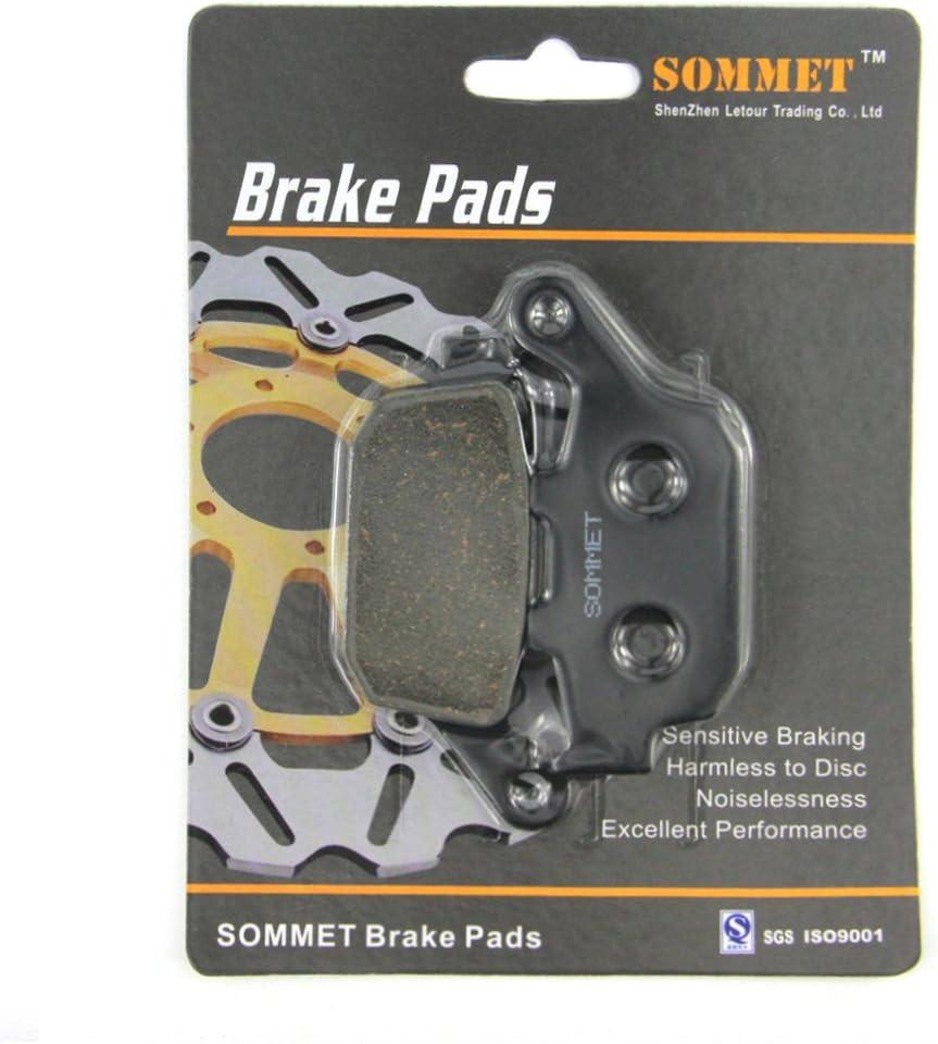SOMMET 1 Par Pastillas de Freno Traseras para Honda NX 650 Dominator J//K//L//LII//M//N//P//R//S//T 1988-1996