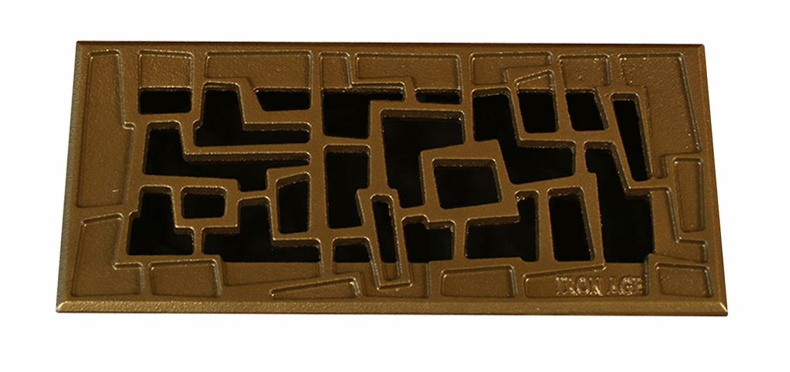 Iron Age Designs TRC4-10 Bronze Tenino Register Cover with Bronze Finish for 4-Inch  by 10-Inch  Opening by Iron Age Designs