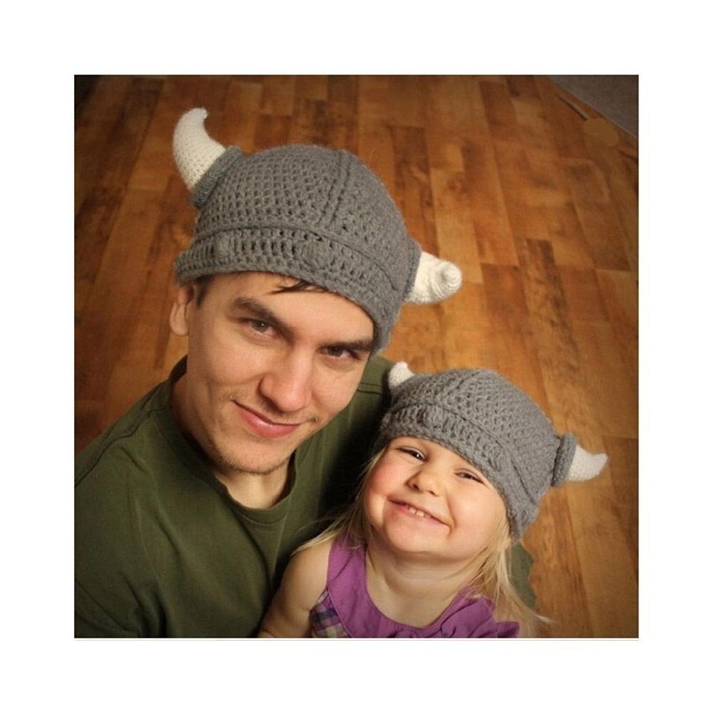 Amazoncom New Baby Kids Bonnet Newborn Handmade Crochet Hat Viking