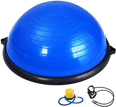 """23/"""" Inch Balance Ball Yoga Exercise Fitness Trainer Gym W// Resistance Bands Pump"""