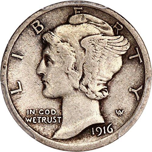 1916 D Mercury Dimes Dime XF45 (1916 D Mercury Dime)