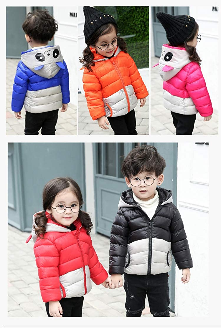 Fairy Baby Toddler Boy Girl Panda Down Jacket Hooded Ultra Light Coat Outwear
