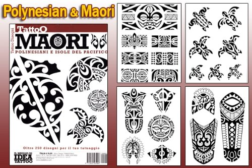 Polynesian & Maori Design 66-page Flash Book (Personal Tattoo Design)