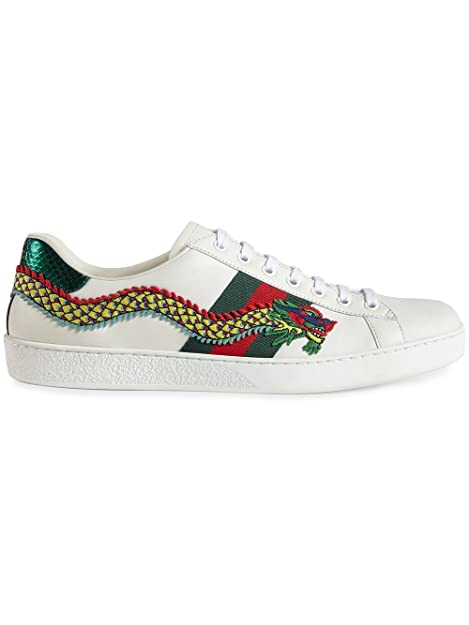 d8c2a3124d8 Gucci Men's 473764A38G09064 White Leather Sneakers: Amazon.ca: Shoes &  Handbags