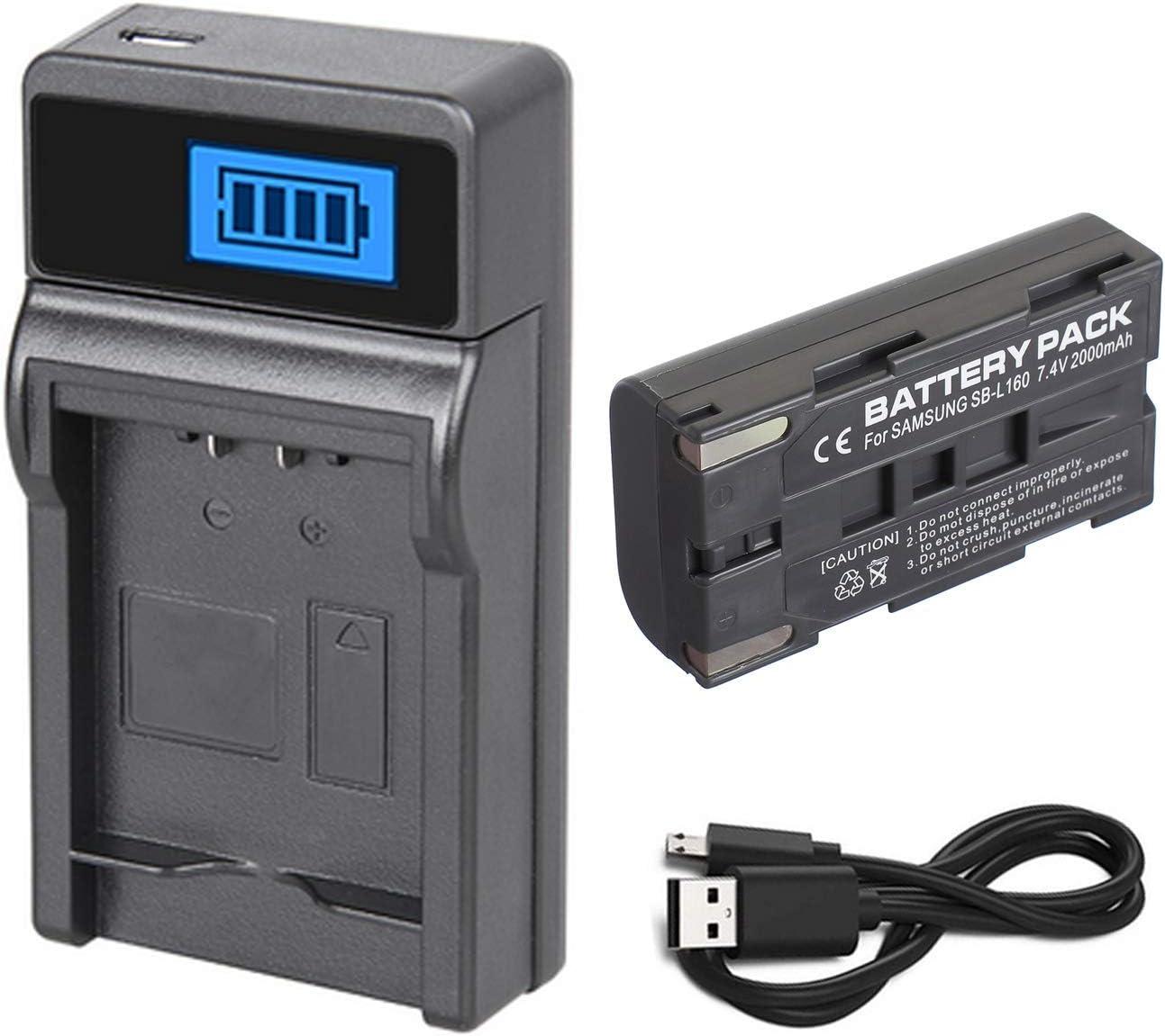 Charger for Samsung VP-L700 VP-L710 VP-L750D VP-L770 Digital Video Camcorder Battery Pack VP-L700U VP-L750