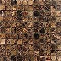 Epoch Tile ED1X1 1x1 Emperador Dark Polished Marble