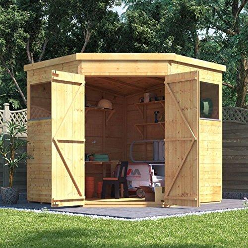 7 x 7 experto BillyOh la lengua y Groove esquina taller cobertizo: Amazon.es: Jardín