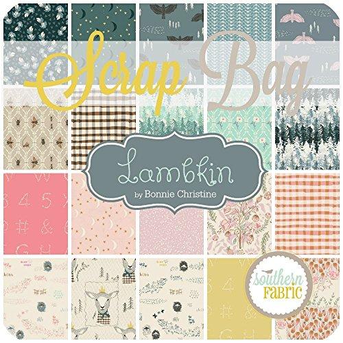 Lambkin Scrap Bag (approx 2 yards) by Bonnie Christine - Art Gallery DIY quilt fabric by Art Gallery