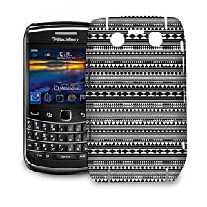 Phone Case For BlackBerry Bold 9700 - Black & White Tribal Aztec Protective Back