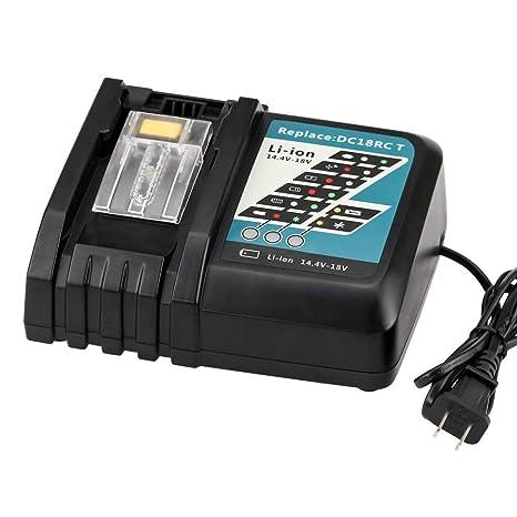 Amazon.com: Cargador de batería DC18RC para Makita de 18 V ...