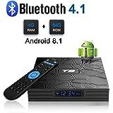 Android 8.1 TV Box, T9 Android Box con 4 GB di RAM 64 GB ROM RK3328 Processore quad-core Cortex-A53 Bluetooth 4.1 2.4Ghz/5.0Ghz WiFi Supporta 4k2k Ultra H.265 Smart Set-Top TV Box
