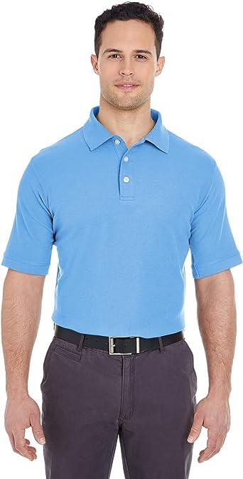 UltraClub Platinum Honeycomb Pique Solid Polo Shirt Mens 7510