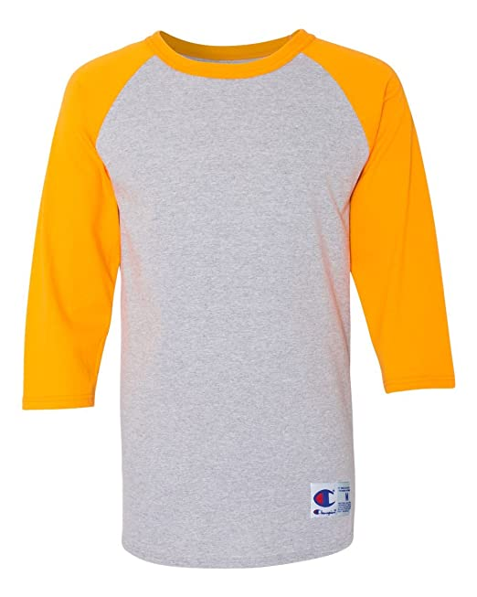0db781ec5 Champion Men's Raglan Baseball T-Shirt at Amazon Men's Clothing store: