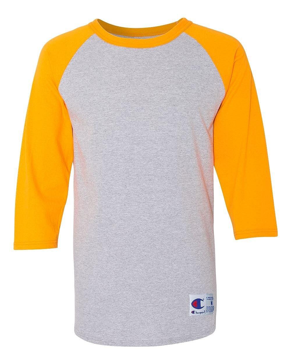 3f235863 Champion Men's Raglan Baseball T-Shirt at Amazon Men's Clothing store: