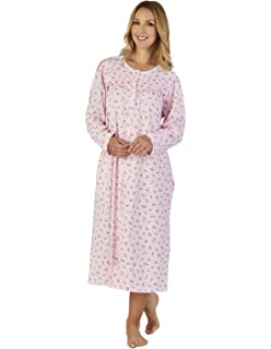 Slenderella ND2102 Women s Spotted Jersey Floral Night Gown Loungewear  Nightdress ae932ae41
