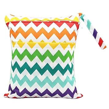 Amazon.com: Bolsas impermeables para pañales de bebé con ...