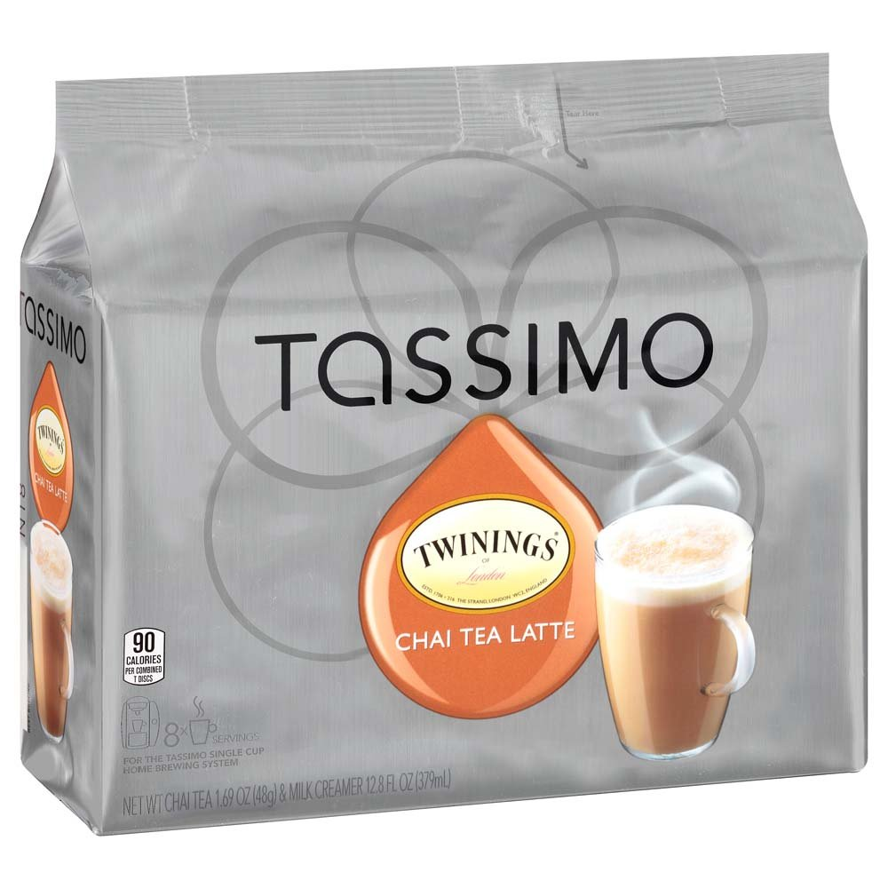 Twinings Chai Tea Latte, T-Discs for Tassimo Brewing Machines, 8 Count (Pack of 5) by Tassimo