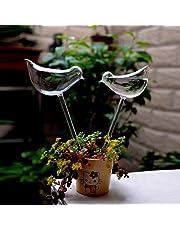 ZHUOTOP Plant Flowers Water Feeders Self Watering Glass Bird Design Plant Waterer