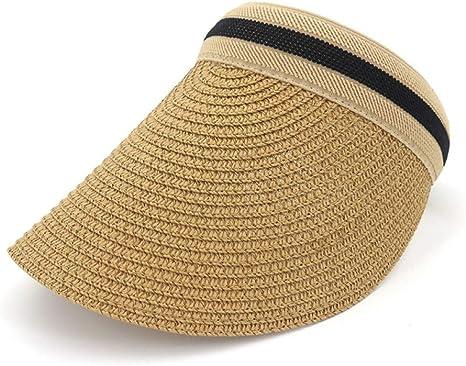 HUOLIMAO Visor Mujer Gorra De Sol Mujer Verano Sombrero De Paja ...
