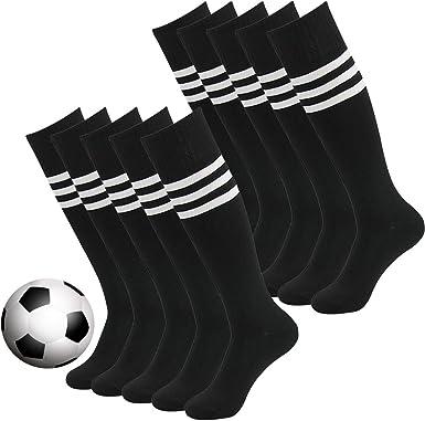 ,White Red//Black Line 2 Pairs Childrens Sport Athletic Socks Football Socks