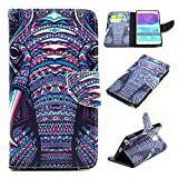 Note 4 Case, Galaxy Note 4 Wallet Case, U-Gem star Galaxy Note 4 PU Leather Wallet Stand Magnetic Cover Case for Samsung Galaxy Note 4,with SIM Card Adapter Kit+Screen Protector+Black Stylus (Elephant's Face)