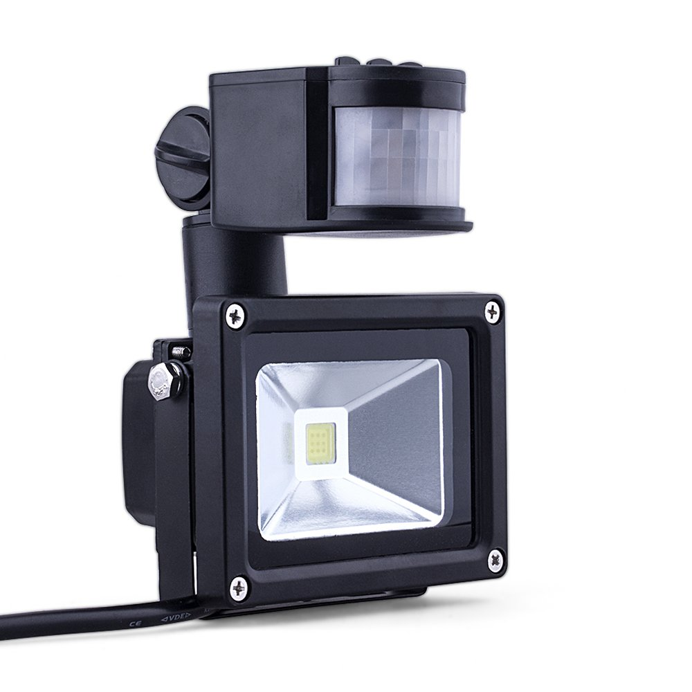 ComwinnDirect (Promotions Super Discount) Comwinn 10W Daylight White Motion Sensor Waterproof Flood Light for Garden,Scenic Spot,Hotel