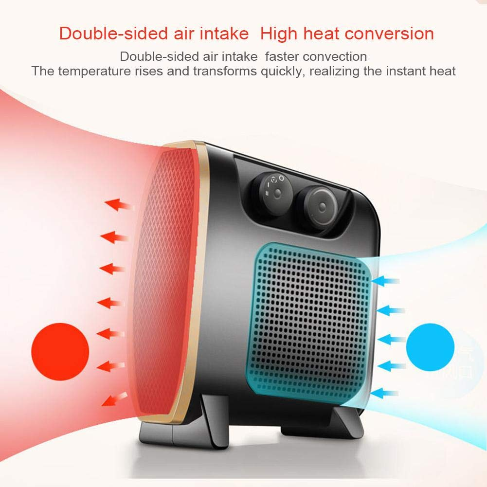 StageOnline Portable Heater Fan, Cool Warm Electric Fan Heater with Adjustable Thermostat for Home Office Trendy by StageOnline