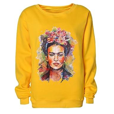 Frida Kahlo Imprimir Hoodie Sudadera con Cuello Redondo Mujer Sudadera con cuel: Amazon.es: Ropa y accesorios