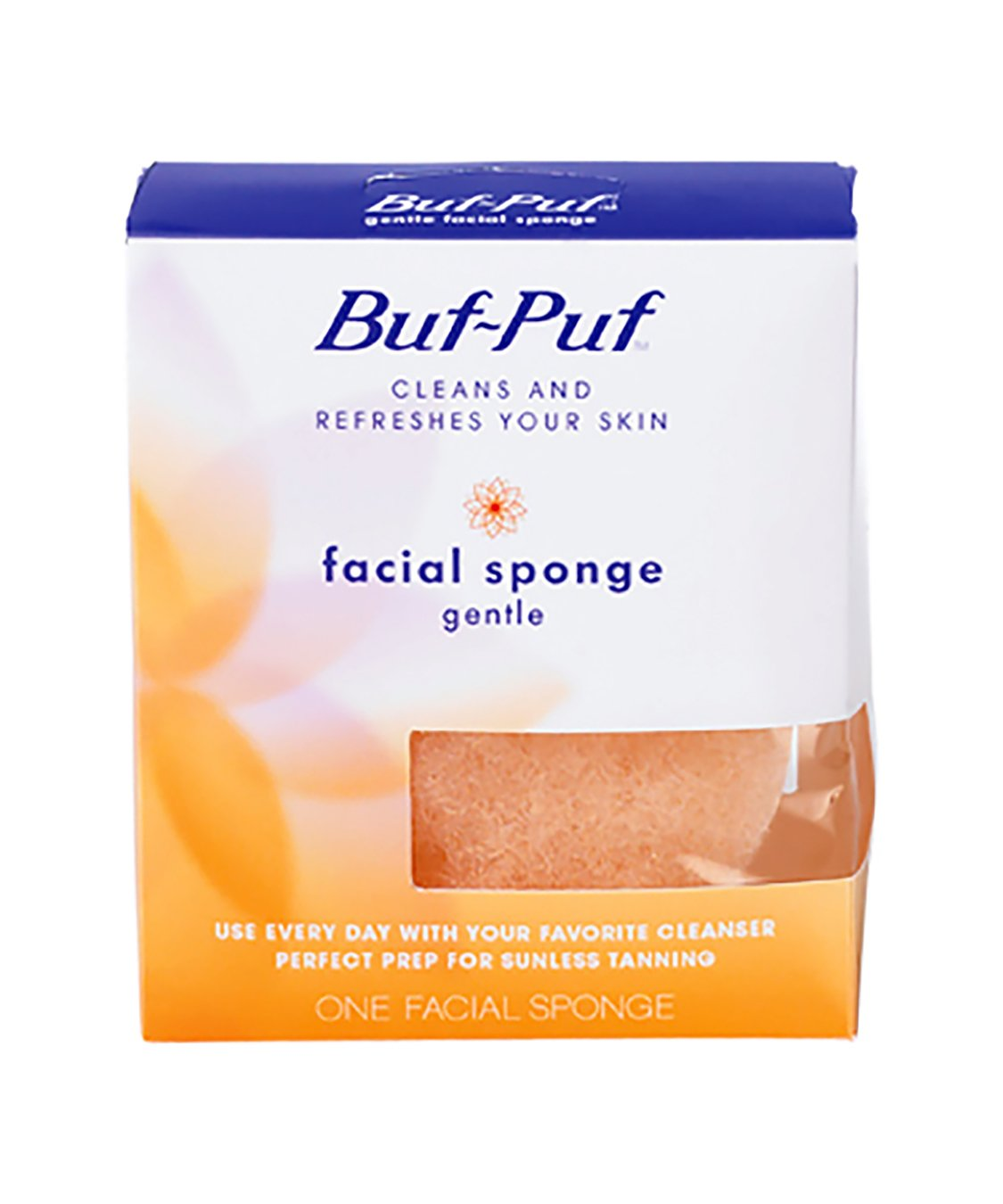 Buf-Puf Reusable All-Purpose Facial Sponge, Gentle (Pack of 6)
