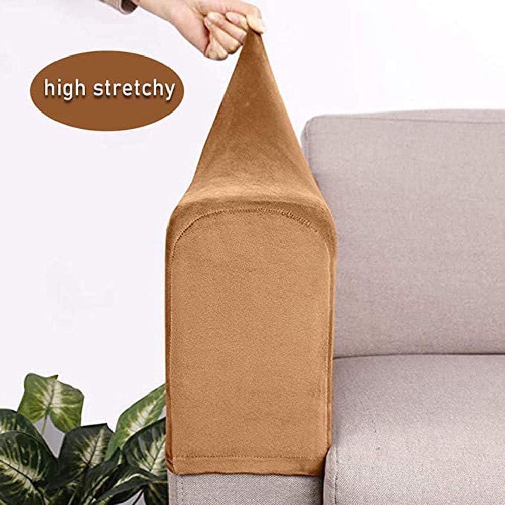 JHuanic divani mobili casa colore: beige Copribraccioli elasticizzati per divani 2 pezzi braccioli e poltrone soggiorno protezione completa per sedie ufficio