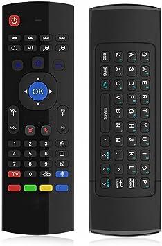 QQPOW Ratón inalámbrico Mini Teclaco por infrarrojos del mando a distancia 3-Gyro 3-Gsensor USB para KODI/XBMC Android Smart TV BOX Mini PC IPTV HTPC.: Amazon.es: Electrónica