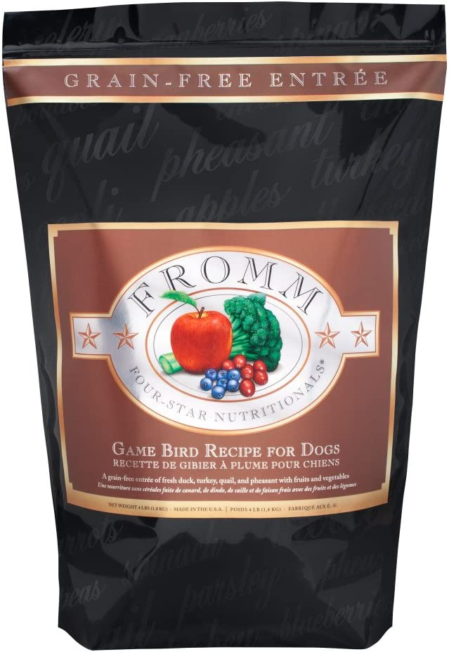 Fromm Family Foods 727711 26 Lb Four Star Grain Free Game Bird Recipe Dry Dog Food (1 Pack), One Size