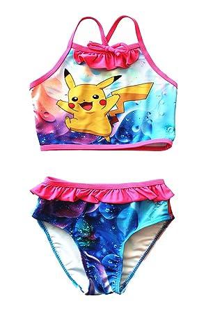 2afab921d6de6 FineApparel UK Seller Pokemon Go Girls Swimwear Swimming Costume Swimsuit  Tankini Set Pikachu Squirtle Charmander: Amazon.co.uk: Clothing
